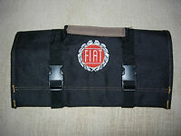 Fiat Logo/ Spider/x-19/124 Heavy Canvas new All Black Tool Roll