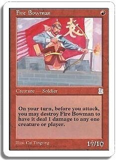 MTG THREE KINGDOMS FIRE BOWMAN