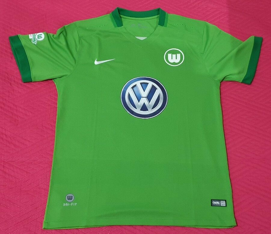 CALCIO WOLFSBURG 2016 2017 Germany Deutschland NUOVA NEW maglia shirt jersey L