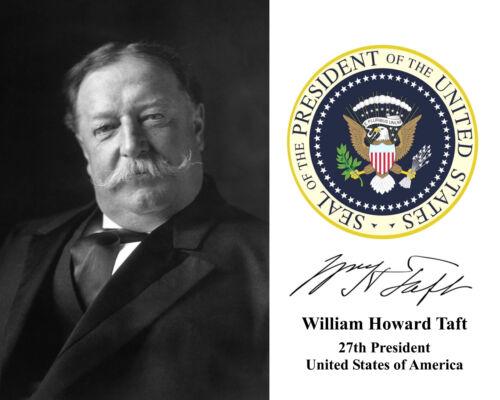 Portrait Autograph 8 x 10 Photo William Howard Taft Presidential Seal USA U.S