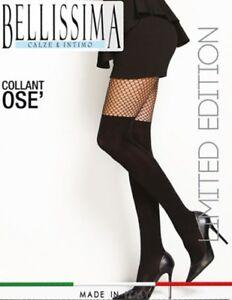 SEXY-CALZE-A-RETE-COLLANT-MODA-FINTA-PARIGINA-BELLISSIMA-OSE-039-NERO