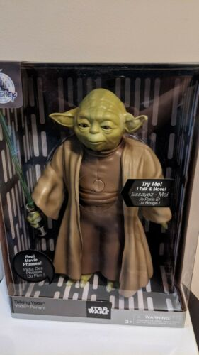 "Authentic Disney Store Star Wars 10/"" Inch Talking Yoda Brand New Factory Sealed"