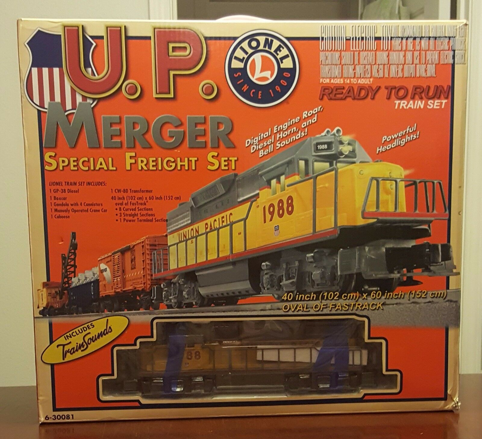 Lionel 6-30081 U.P. Merger Special Freight set - In Shipping Box