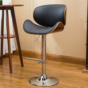 Peachy Details About Scandi Style Black Curved Adjustable Swivel Bar Stool Chrome Finish Metal Base Ncnpc Chair Design For Home Ncnpcorg