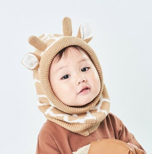 Baby Toddler Kid Boy Girl Giraffe Cow Fancy Costume Hat Scarf Snood Gift Prop