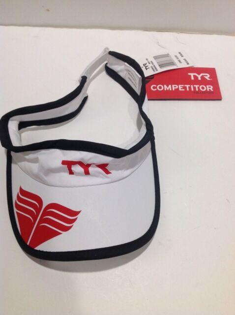 33dcadffcf4953 TYR Sport Running Visor White Moisture Wicking One Size Fits All Run Visor  NEW!