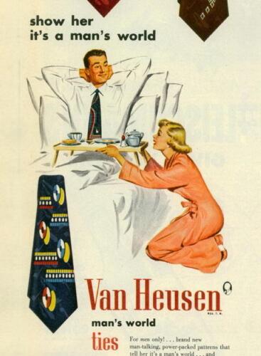 VAN HEUSEN MAN`S WORLD   metal Retro Aluminium tin Sign  VINTAGE AD