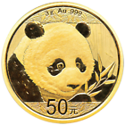 2018 50 Yuan Gold Chinese Panda .999 3g Brilliant Uncirculated