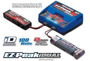 Traxxas-2972-EZ-Pico-Dual-8amp-ID-rapido-cargador-de-CA-para-2s-3s-Lipo-NiMH-bateria
