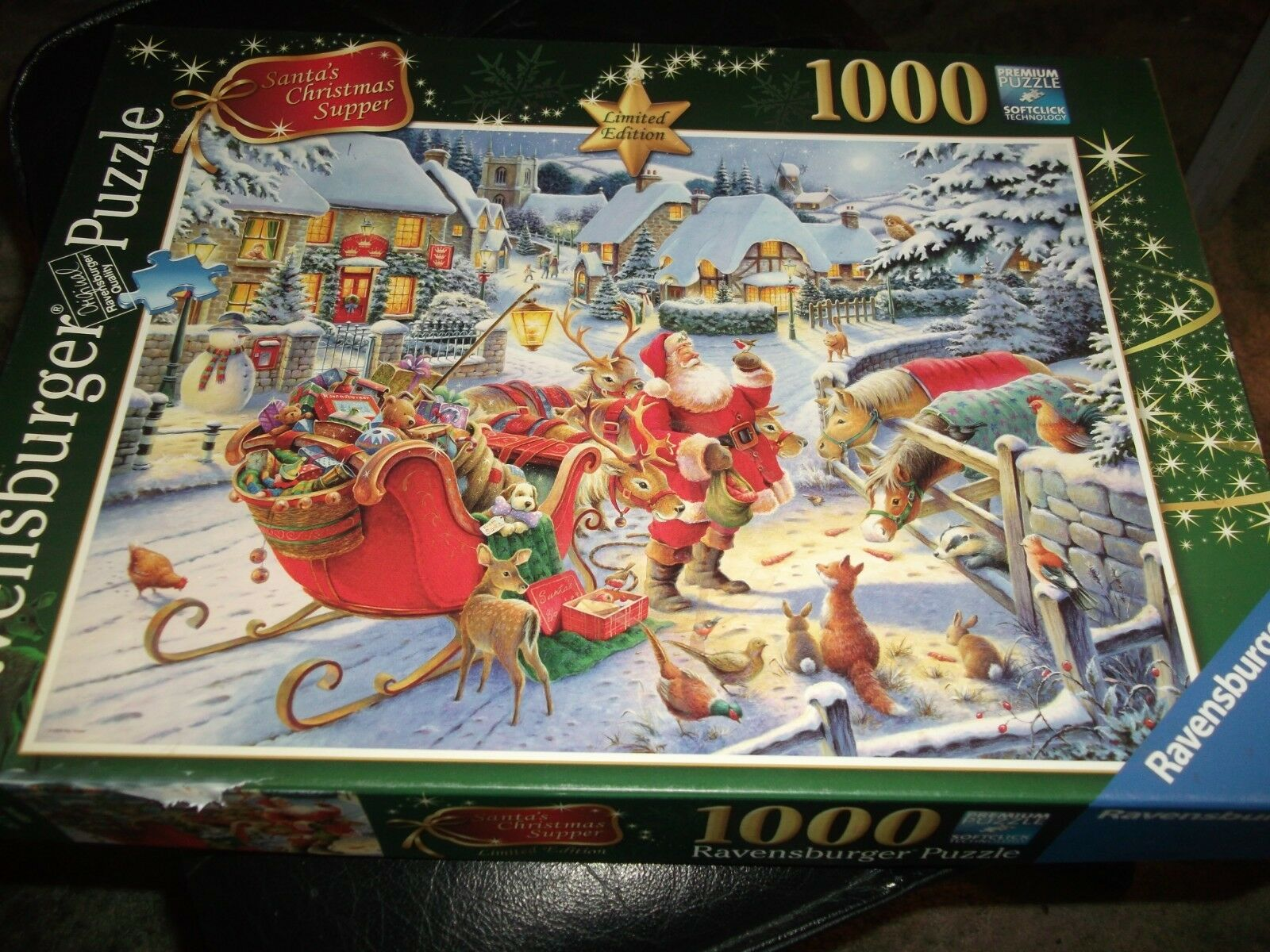 Ravensburger RARE Santas Christmas Supper Jigsaw Puzzle Game 1000 Pieces
