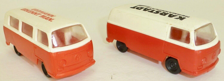 2 x T2 VW Bus Transporter Jean Red White Karstadt Erdmann Ca 1 64 Å