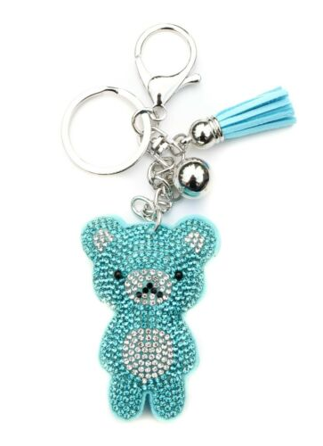 AuPra Crystal Teddy Bear Woman Keyring Funny Animal Mom Keychain Friend Man Gift