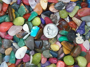 3000 Carat Lots of Size #2 Tumbled Polished Gemstones + A FREE Faceted Gemstone
