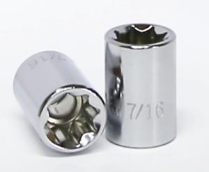 "7//16/"" x 3//8/"" Drive Standard SAE Socket T/&E Tools 13114 8 Point"
