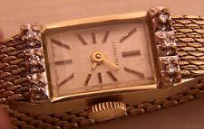 Six Diamond Lady's Longines Watch, Mid 60's Runs Well 15J 10K Rolled Gold
