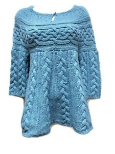 c27dfe597f3 Details about Gap Women's Light Blue Cable Knit Sweater Wool Blend Size M  NWT Wool Blend
