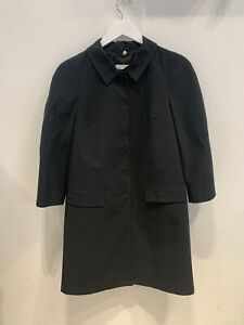 Jil-Sander-Womens-Black-Midi-Length-Coat-Size-34-6-1865-A