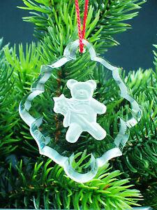 Weihnachtspendel-034-Teddybaer-034-aus-Glas-mit-Kordel-rot-UG-1822
