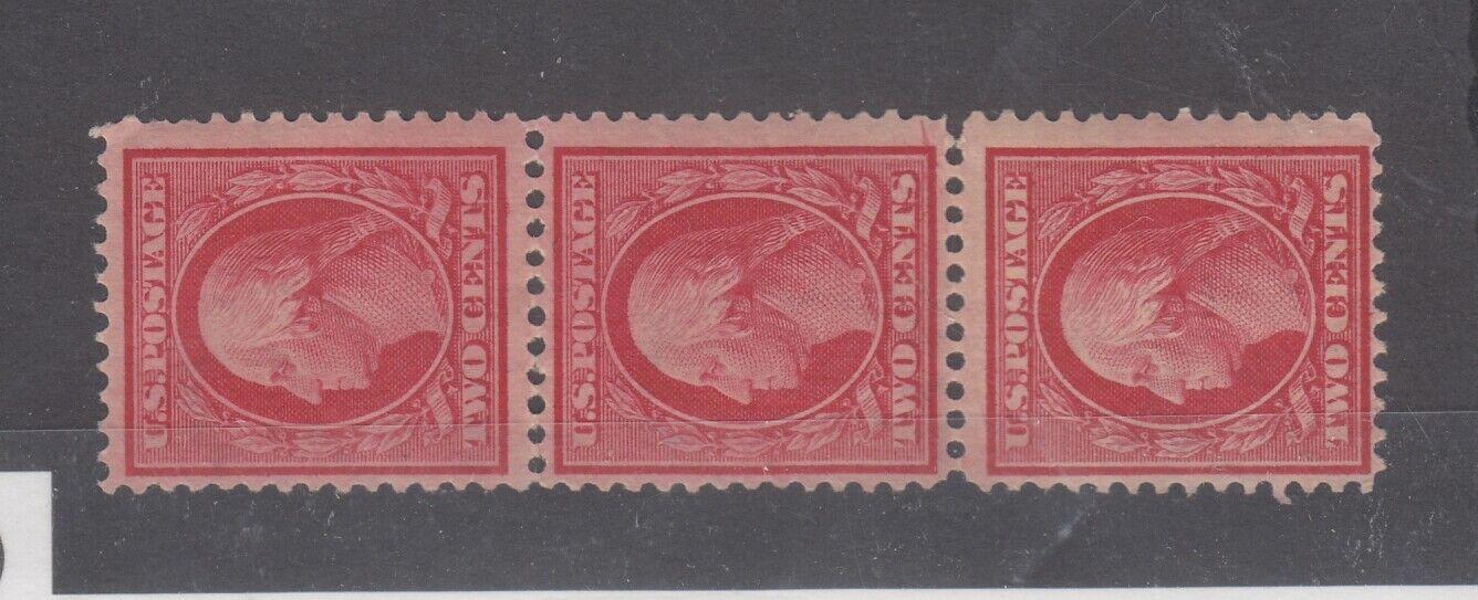 USA 1915 2c Strip of 3 Perf 12 Scott #450 MNH JK2569