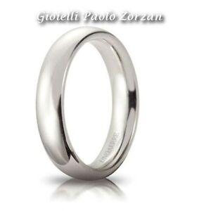FEDE-Matrimoniale-UNOAERRE-Comoda-4-mm-oro-bianco-18-Karati