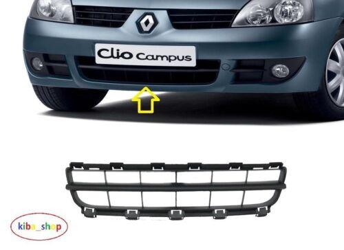 Renault Clio Campus Thalia Symbol Pare-Chocs Avant Centre Inférieur Calandre Noir