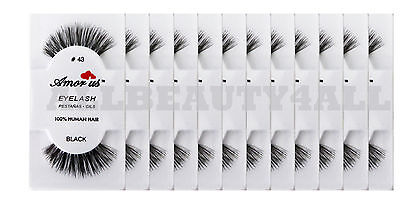 #43 Amor Us 100% Human Hair False Eyelashes (pack of 12pairs) compare Red Cherry