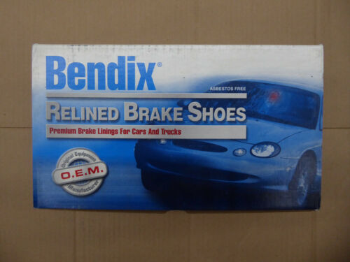 553 FITS VEHICLES LISTED ON CHART BRAND NEW BENDIX RELINED BRAKE SHOES R553
