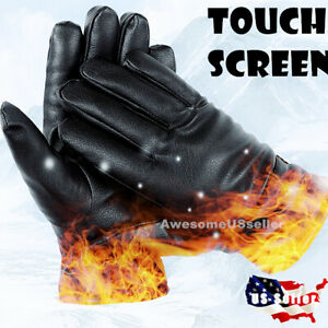Men-Women-Winter-Gloves-Touch-Screen-Snow-Windproof-Waterproof-Leather-Thick-USA