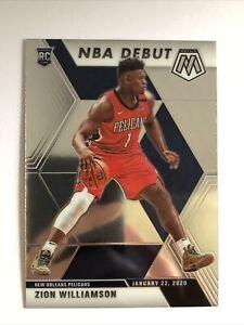 2019-20 Panini Mosaic Zion Williamson RC Rookie Card NBA Debut #269 Pelicans
