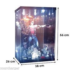"Acrylic Display Case LED Light Box for 16"" 1/5th Duke Nukem Statue Action Figure"