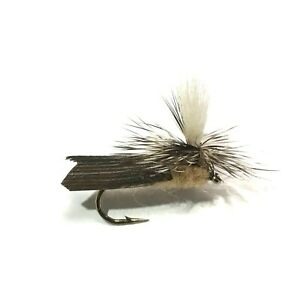 12 pcs Tenkara Flies Kebari Reverse Hackled Salmon Trout Dry Fly Fishing Lures