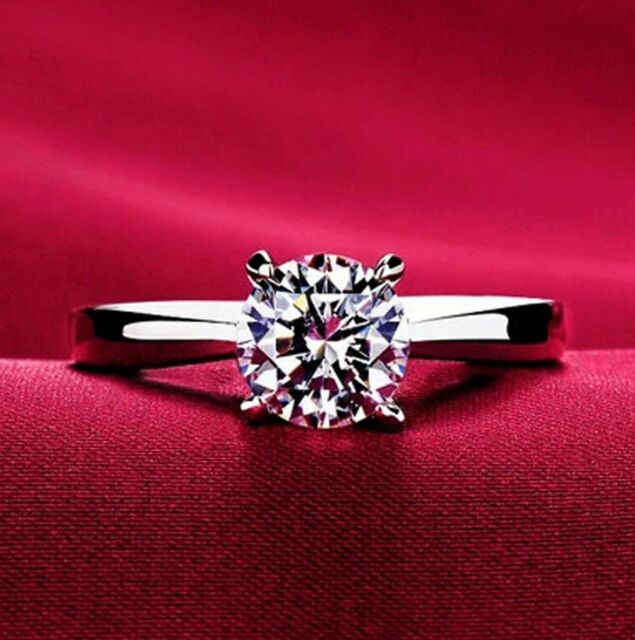 Lemon Grass 1 Ct Halo Solitaire Cubic Zirconia Promise Engagement Ring 925 Ring For Sale Online Ebay