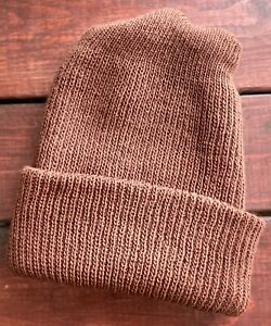 """Authentic Prison (PA D.O.C.) Issued Coco Brown Inmate Beanie """"Winter Hat"""" NEW"""