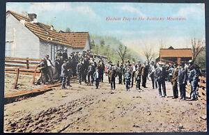 1910 USA Picture Postcard Cover To Sheffield Fl Election Day Kentucky Mountains