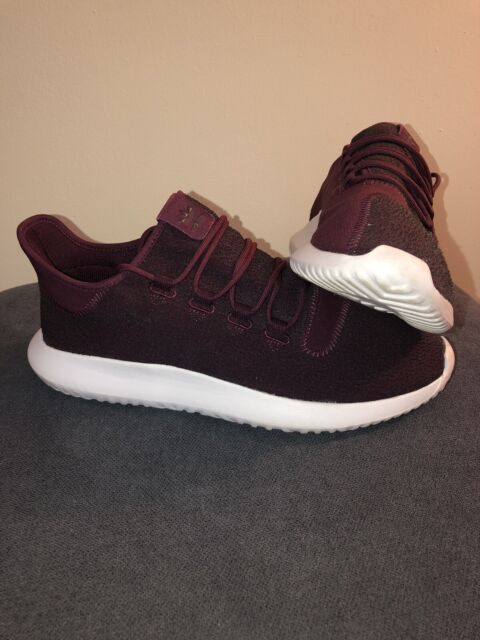 adidas Originals Tubular Shadow Men's Running Shoes - Maroon/Vapour Grey/White,