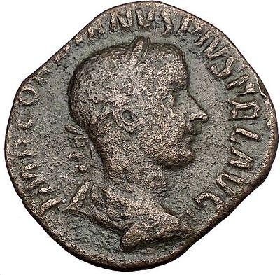 Gordian III 240AD HUGE Sestertius Ancient Roman Coin Concordia Harmonia i32982
