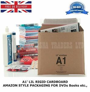 50-x-A1-LIL-DVD-RIGID-CARDBOARD-AMAZON-STYLE-MAILERS-ENVELOPES-D1-JL1-SIZE-HQ