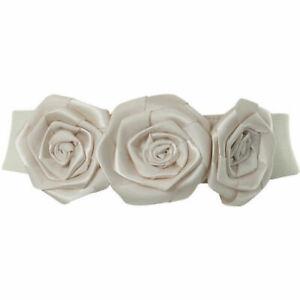 MISS-SELFRIDGE-Ivory-Satin-Corsage-Waist-Belt-Medium-Large