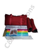 4 Color  Racks 4 Clear Pushers American Mah Jong Set Burgundy Red Carrying Bag