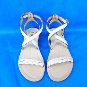 Pair Damen Sommer Schuhe Damenschuh Sandale Leder Beige Geflochten 38 Np 145 Neu