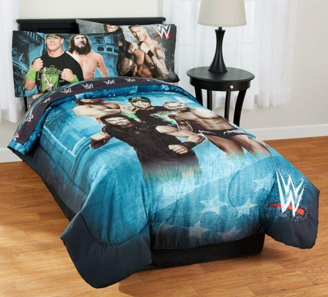 Wwe Pro Wrestling Boys Twin Bed Set Kids 4 Piece Comforter Sheets