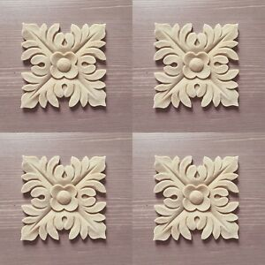 Shabby Chic Furniture Leaf Scroll Resin Decoration Applique Moulding not Wood
