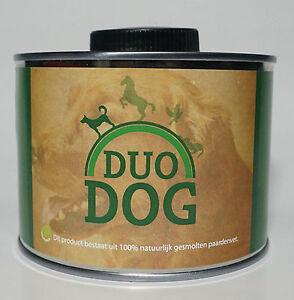 Duo-Dog-Pferdefett-500ml-Nahrungsergaenzung-fuer-Hunde-Haut-Allergien-Darm-Knochen