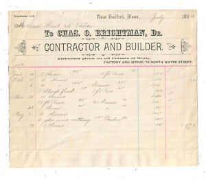 1893-CHAS-O-BRIGHTMAN-CONTRACTOR-AND-BUILDER-NEW-BEDFORD-MASS-BILLHEAD