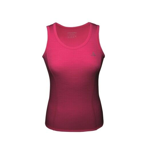Schöffel Merino Sport Shirt Top W Funktionsunterwäsche Damen pink Outdoor