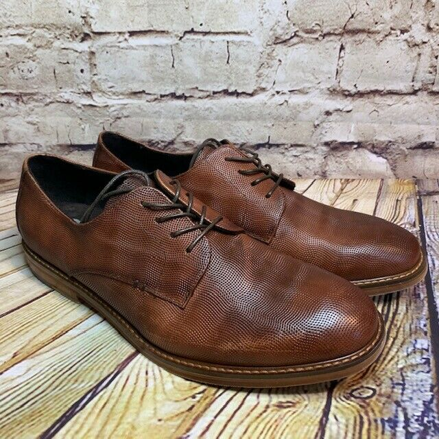 Kenneth Cole New York Mens Brown Leather Oxford Dress Shoes Size 9.5