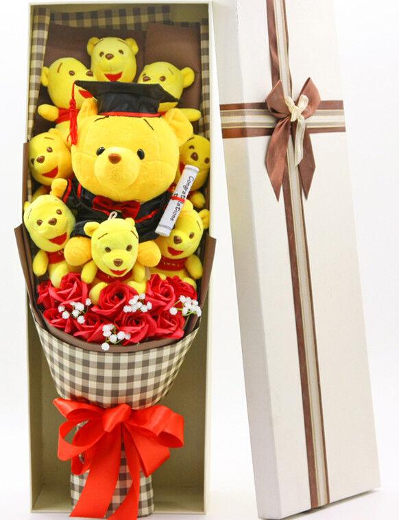 Nytt gäng med nio Winnie The Puh Valentine Doll Födelsedag leksak Flågers Creative Gift