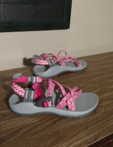 161adfc021d52c Image is loading Kids-Junior-Chaco-Sandals-Pink-White-Size-4-