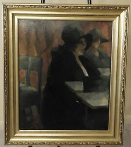 ROBERT-GIRON-1897-1967-ABSTRACT-IMPRESSIONIST-ART-PORTRAIT-PAINTING-BELGIAN