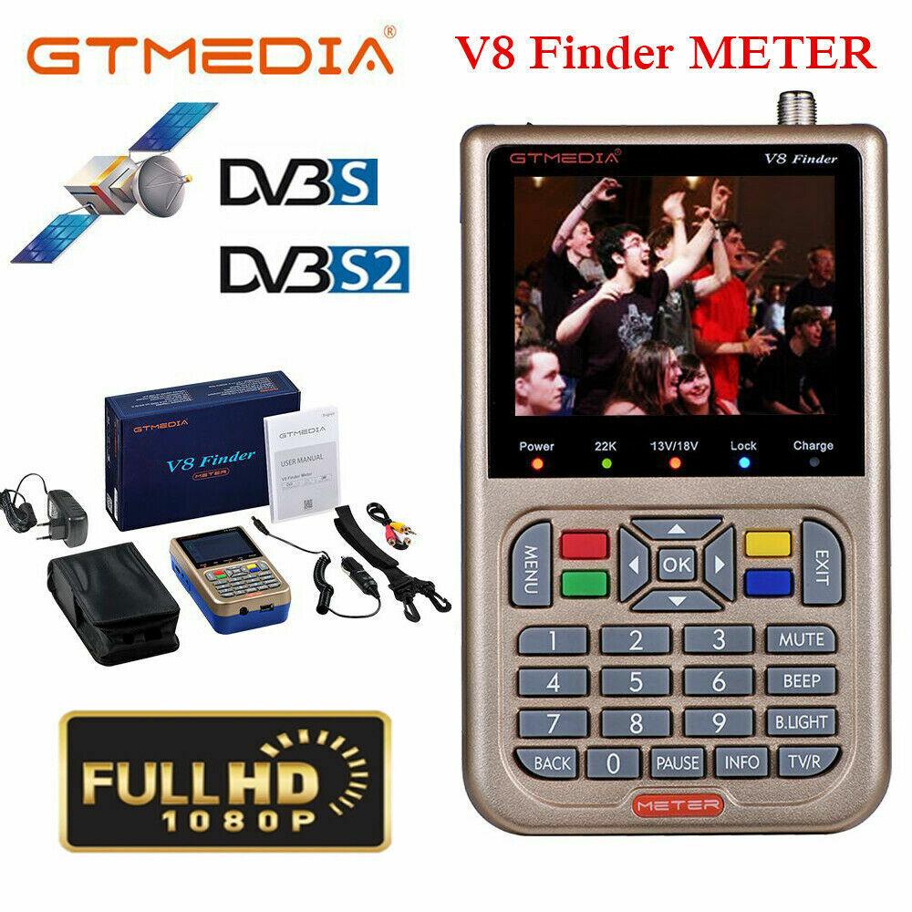 """V8 Freesat Satfinder 3,5/"""" LCD Digital Satellite Finder Meter DVB-S//S2 FTA MPEG-2"""